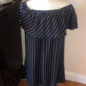 Comfortable navy blue dress